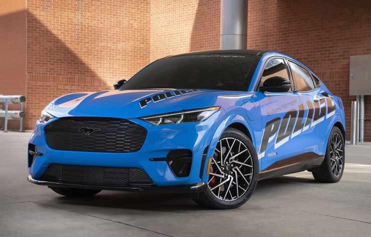 Ford Mustang Mach E testée par la police américaine à Detroit
