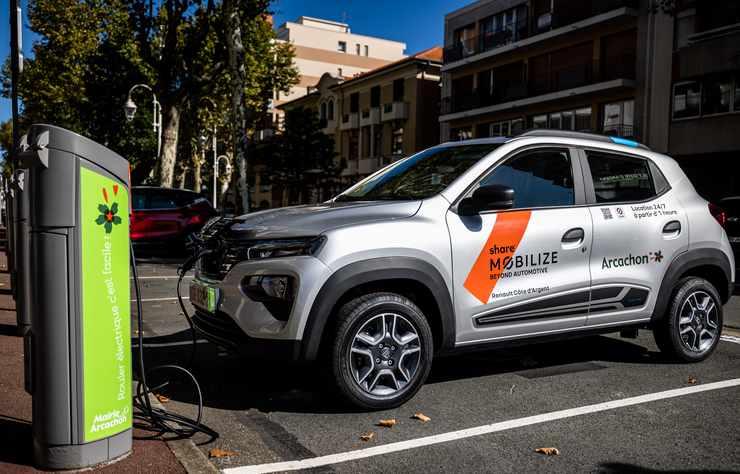 Dacia Spring électrique du service Mobilize Share à Arcachon
