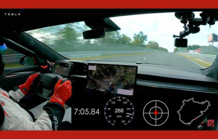 Officiel: la Tesla Plaid a battu la Porsche Taycan au Nürburgring