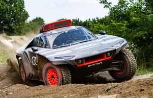 Audi RS Q e-tron électrique à prolongateur d'autonomie pour le Dakar