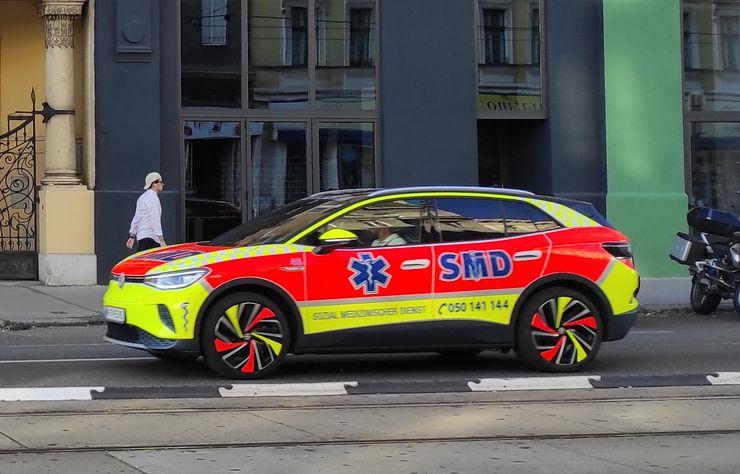 Volkswagen ID.4 d'un service d'urgences à Vienne