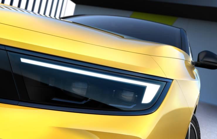 Gros plan Opel Astra