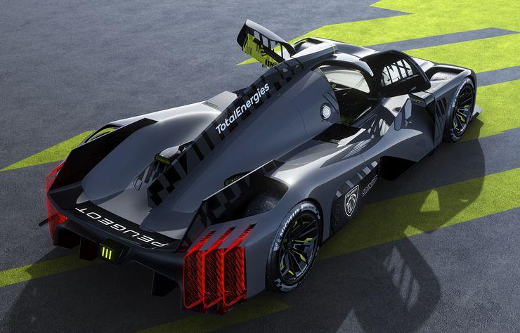 Peugeot 9X8 hybride de compétition pour le championnat d'endurance WEC