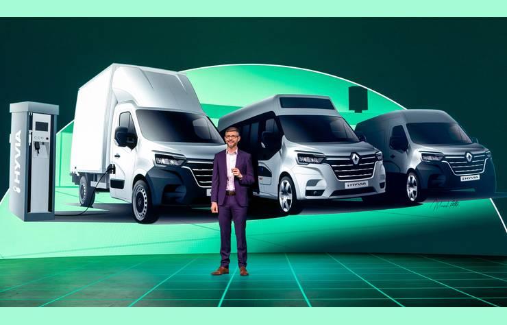 Les utilitaires Renault Master à hydrogène
