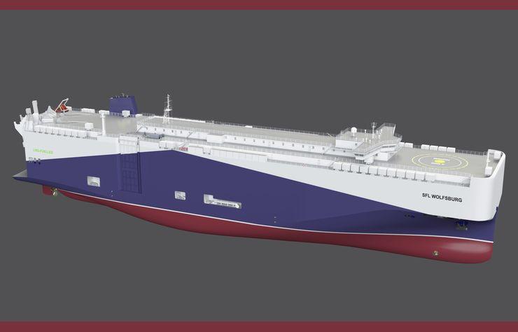 Illustration futur tanker Volkswagen au GNL