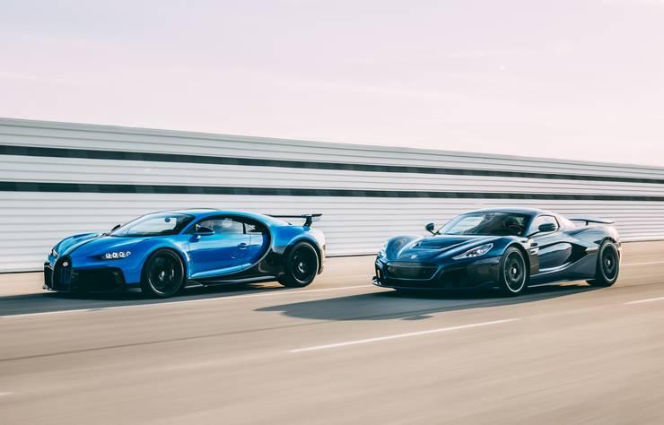 Bugatti avec Rimac
