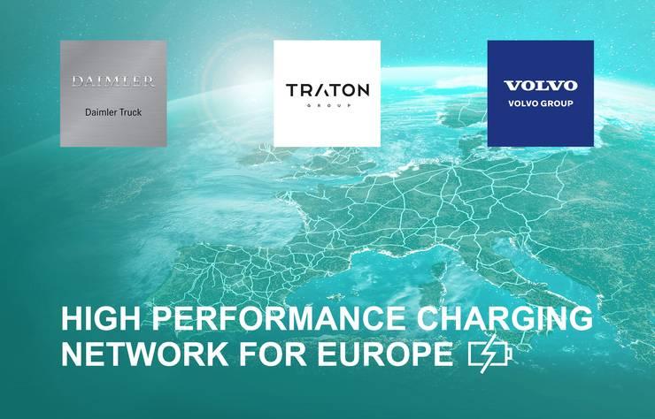 Mercedes, Traton et Volvo vont construire un réseau européen de bornes de recharge pour les poids lourds