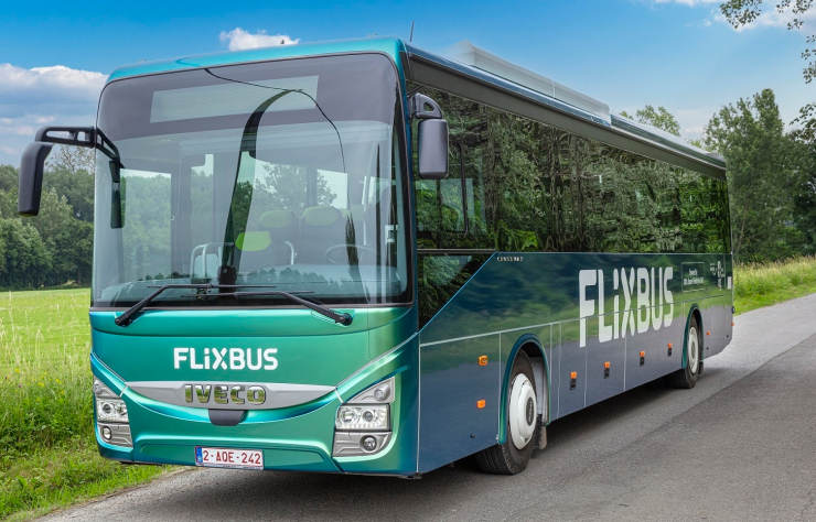 autocar Flixbus au biogaz