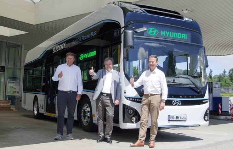 Autobus à hydrogène Hyundai en Bavière