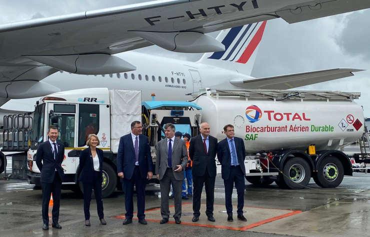 Total essaie les biocarburants au dessus de l'Atlantique