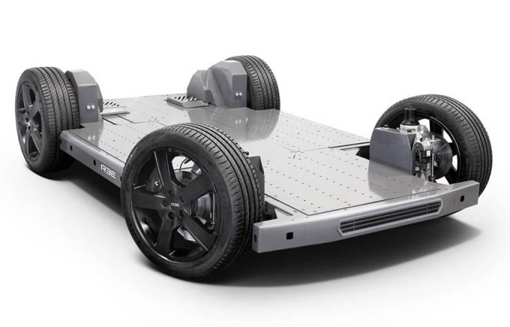 Plateforme skateboard de Ree Automotive