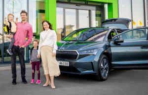 Skoda Enyaq, le premier client de la tchèque électrique est livré