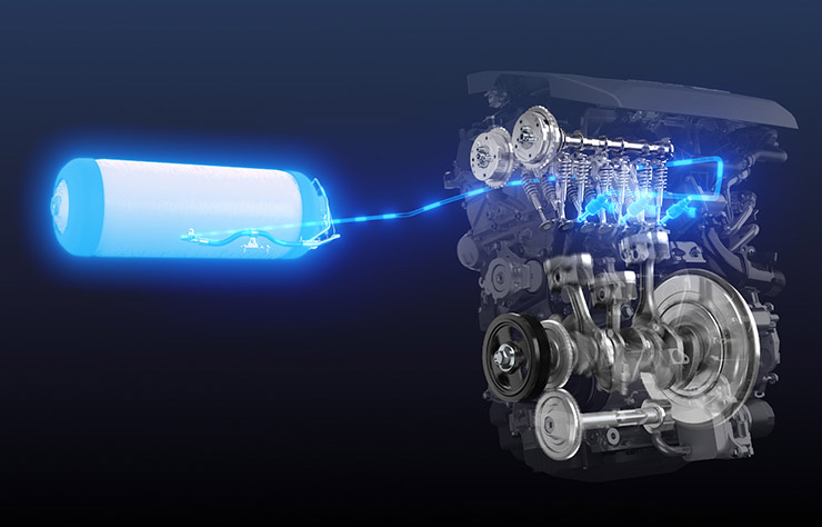 moteur Toyota 3 cylindres turbo à hydrogène