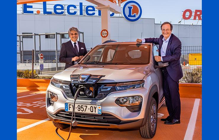 Dacia Spring électrique à louer chez Leclerc