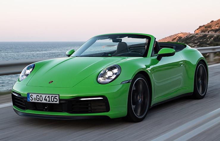 Porsche 911 verte