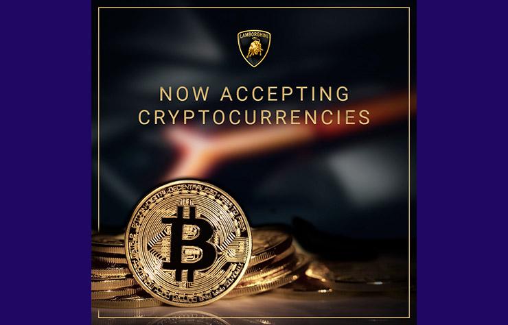 Concessionnaire Lamborghini acceptant le bitcoin