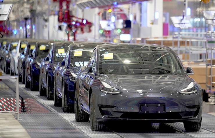 Usine de production de la Tesla Model 3