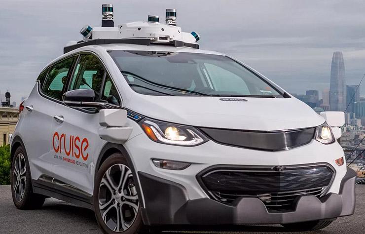 Chevrolet Bolt électrique autonome Cruise à San Francisco