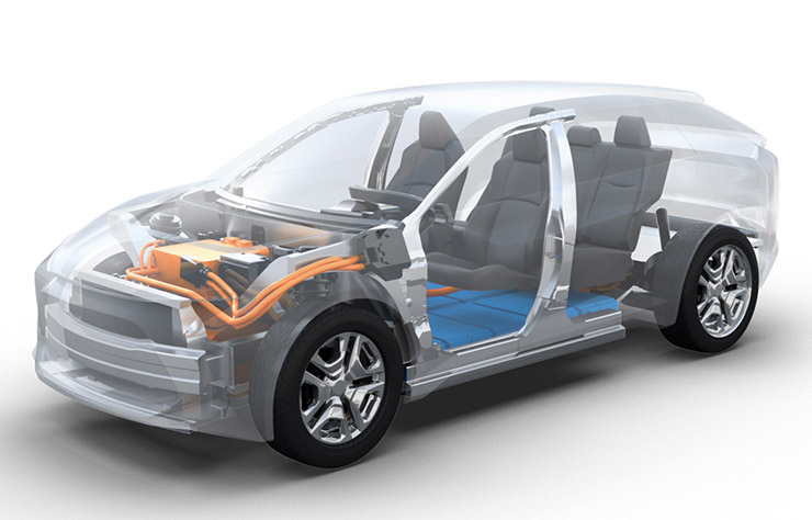 Esquisse Toyota électrique sur base e-TNGA