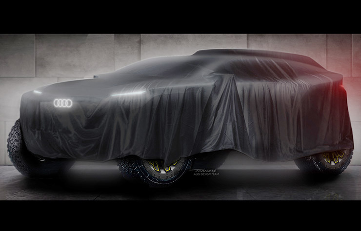 Protoype Audi pour le Dakar et les ralye-raids