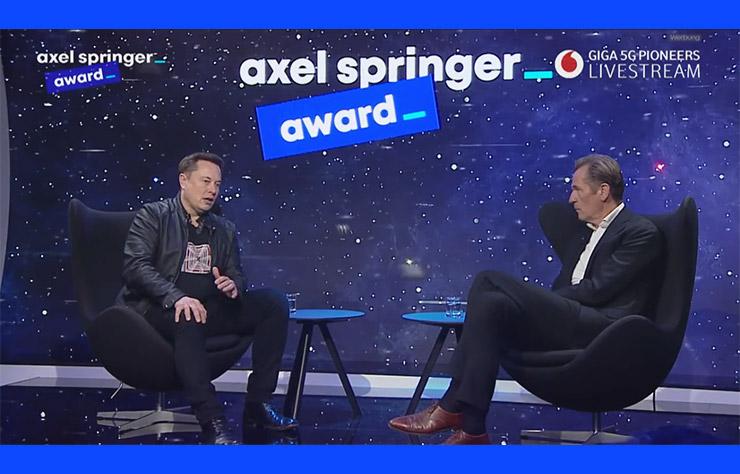 Elon Musk aux Axel Springer Awards