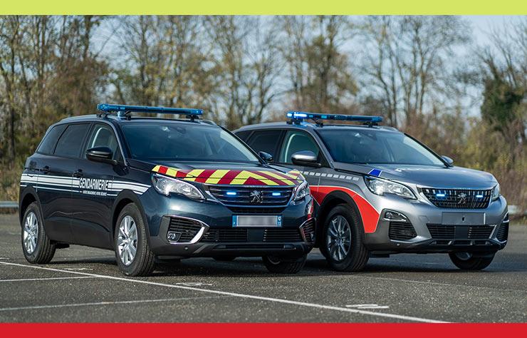 Peugeot 5008 d ela police et de la gendarmerie
