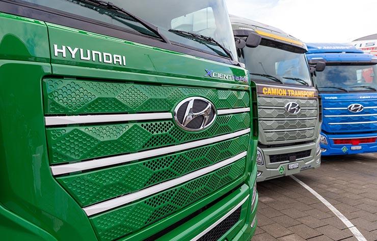 Poids lourds Hyundai Xcient à hydrogène