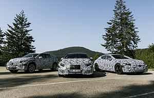 Mercedes électriques, l'EQA fin 2020, EQB et EQS en 2021