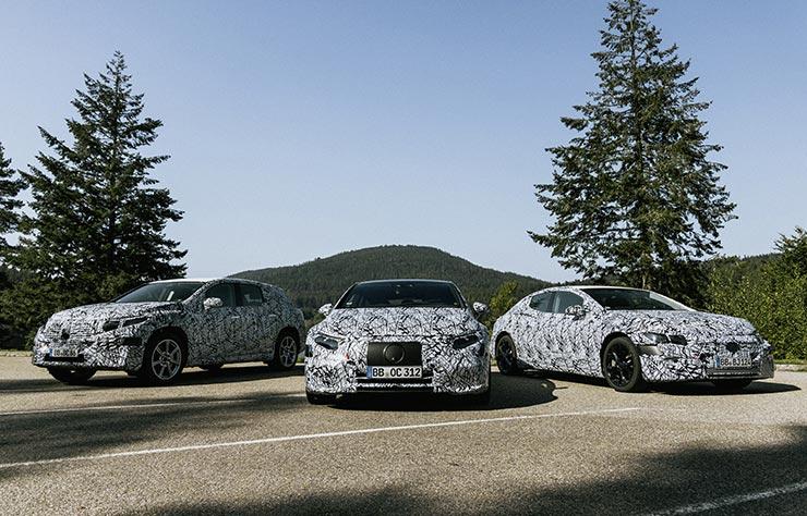 Prototypes Mercedes électriques