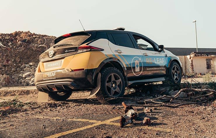 Nissan Re-Leaf prototype de véhicule d'urgences