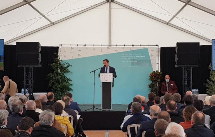 Projet Lhyfe de production d'hydrogène renouvelable en Vendée