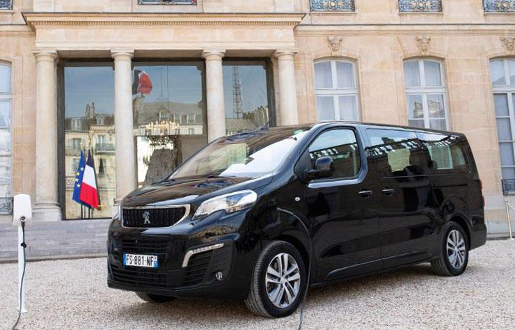 Peugeot e-Traveller électrique à l'Elysée pour les journées du patrimoine