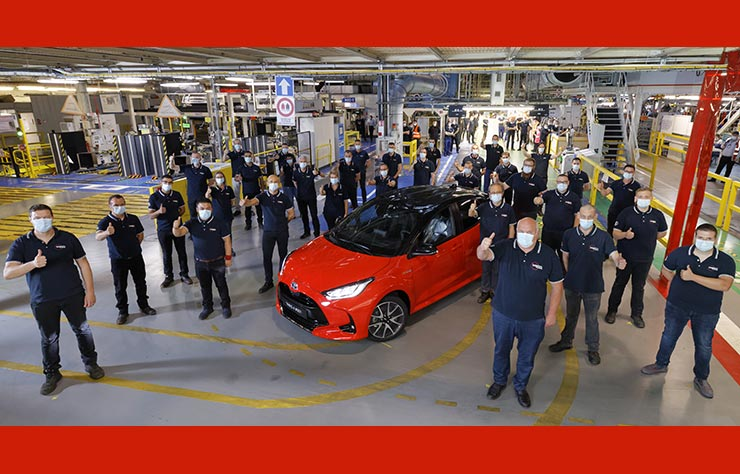 Toyota Yaris fabriquée en France