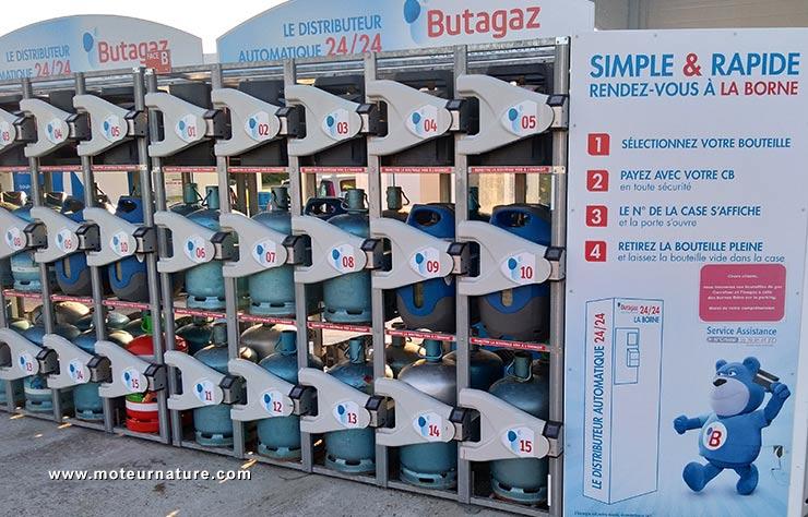 Station de vente de bouteilles de gaz Butagaz