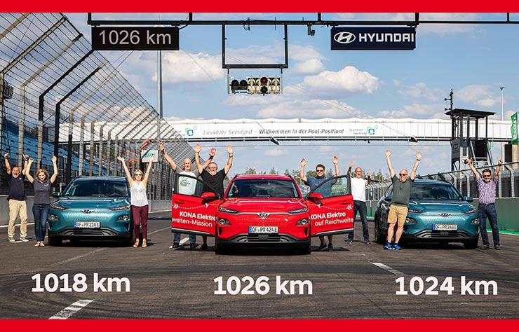 Hyundai Kona EV de record au Lausitzring