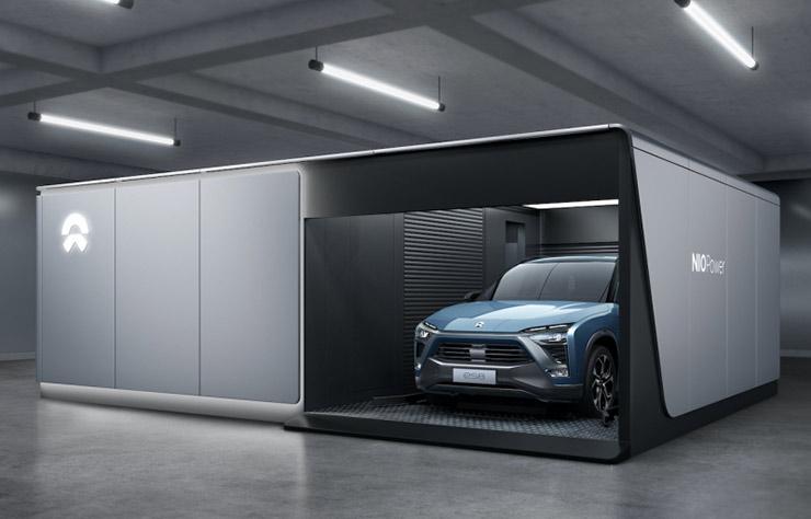 Station d'échange de batterie de voitures électriques Nio