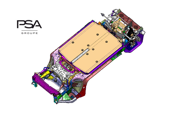 Electric Vehicle Modular Platform de PSA