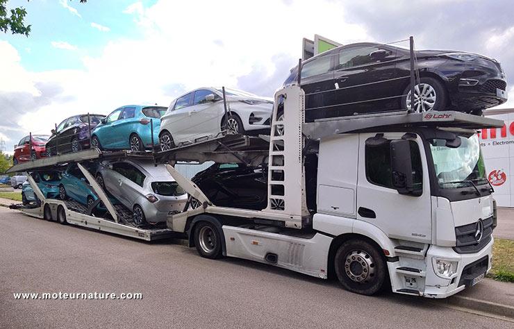 Camion de Renault Zoé électrique