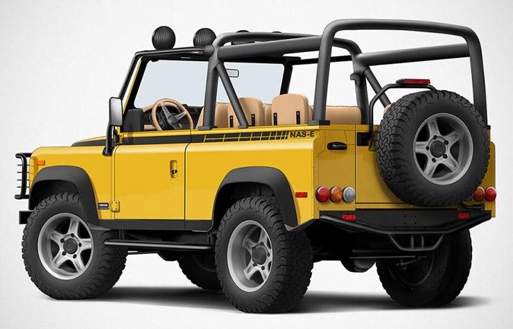 Land Rover électrique converti par Twisted