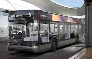 La start-up Arrival présente un autobus électrique