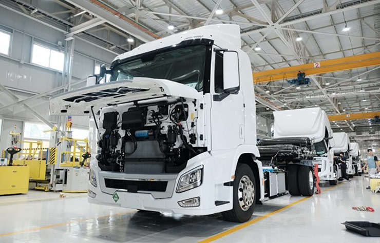 Poids lourd Hyundai XCIENT à hydrogène