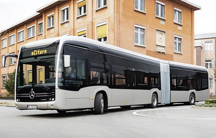 Autobus Mercedes eCitaro articulé
