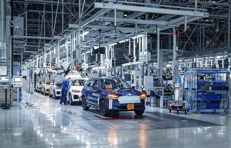 Usine de BMW iX3 en Chine