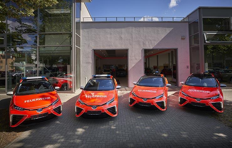 Toyota Mirai à hydrogène des pompiers de Berlin