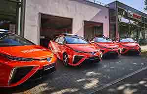 Les pompiers à l'hydrogène grâce à Toyota