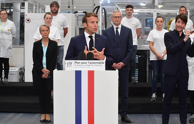 Président Macron en visite chez Valeo