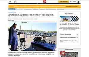 La messe en voiture, en France aussi