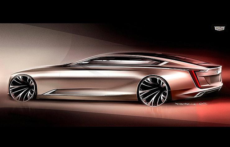 esquisse du concept Cadillac Escala