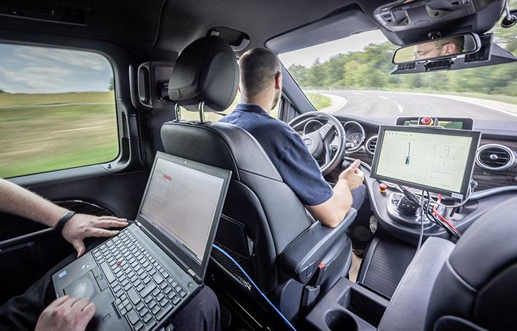 Prototype à conduite autonome
