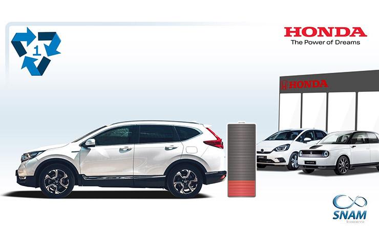 Recyclage de batterie avec Honda